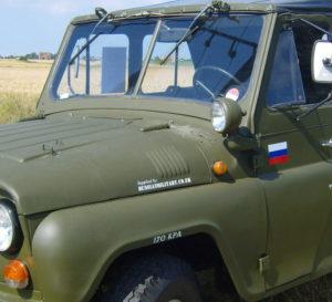 Жабры на капоте УАЗ 469